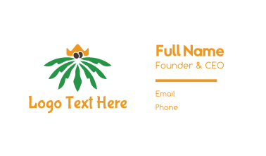 Palm King Business Card