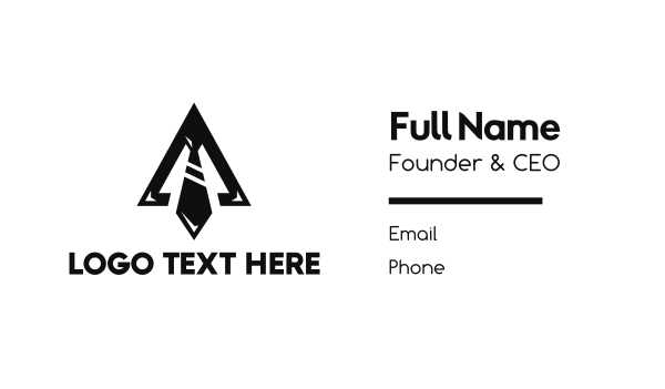entrepreneur - Black Triangle Tie Business card horizontal design