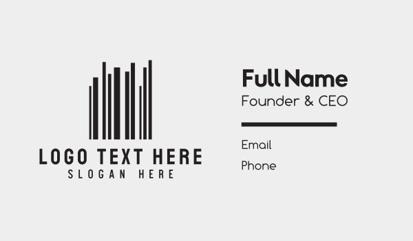 stats - Barcode Buildings Business card horizontal design