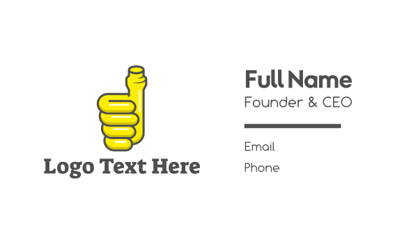 piping - Thumbs Up Pipe Business card horizontal design