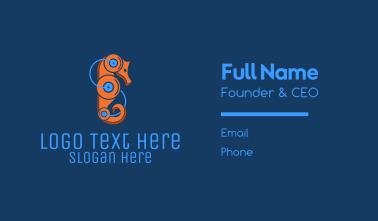 Seahorse Robot Business Card