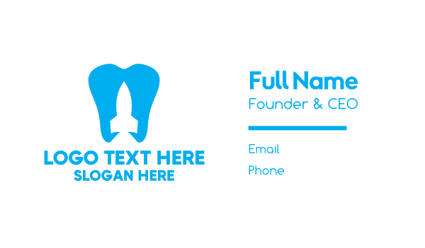 oral care - Rocket Tooth Business card horizontal design