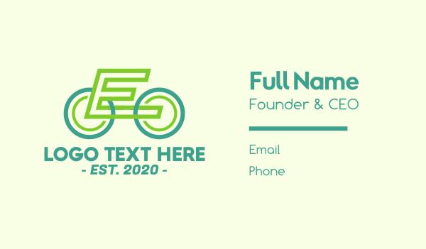 bike parts - Modern Biking Letter E Business card horizontal design