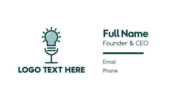 think tank - Idea Voice Lamp Business card horizontal design