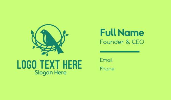 wild creature - Tree Bird Nest Business card horizontal design