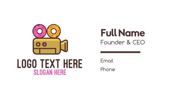 broadway - Donuts & Movies Business card horizontal design