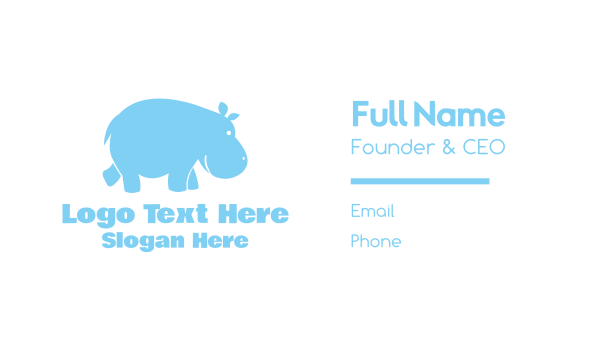 madagascar - Blue Hippo Business card horizontal design