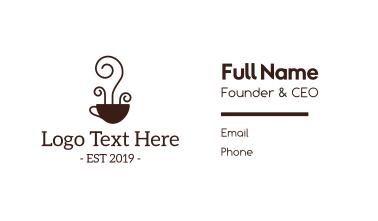 Artisanal Coffee Cafe Business Card