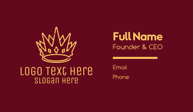 Yellow Gold Crown Business Card