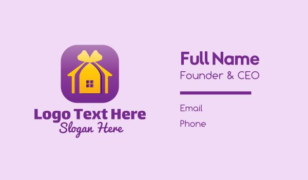 Home Decor Application Business Card