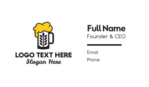 drunk - Beer Wheat Business card horizontal design