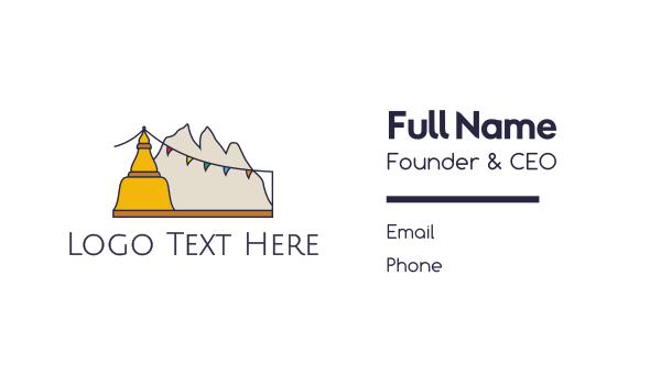 buddhism - Tibet Mountains Business card horizontal design