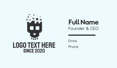 Pixel Skull Business Card