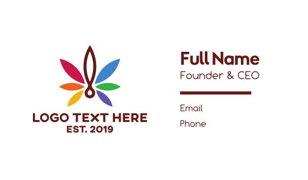 queer - Modern Leaf Cannabis Business card horizontal design