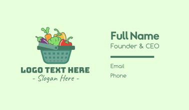 Vegetable Grocery Basket Business Card