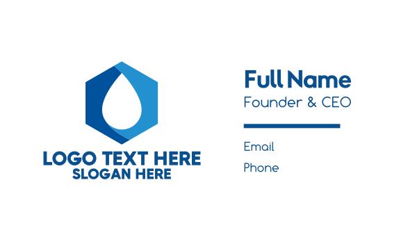 hydrogen - Cube Blue Droplet Business card horizontal design