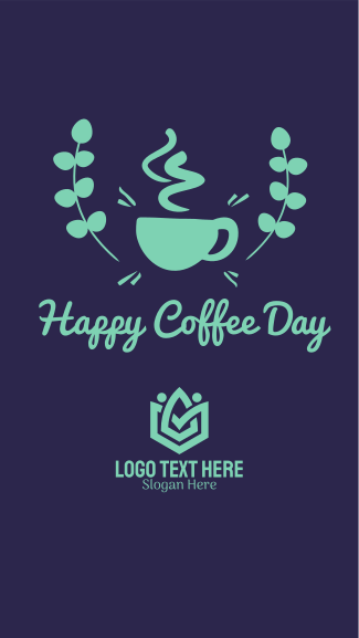 Happy Coffee Day Badge Facebook story