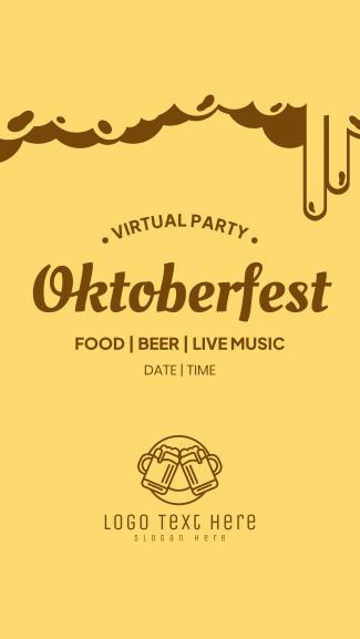 Virtual Oktoberfest Facebook story