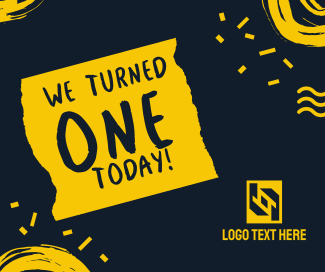 We Turned 1 Today Facebook post