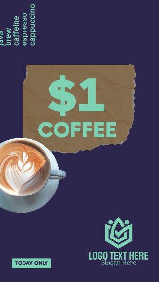 $1 Coffee Cup Facebook story