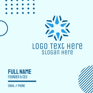 Corporate Blue Star Business Card