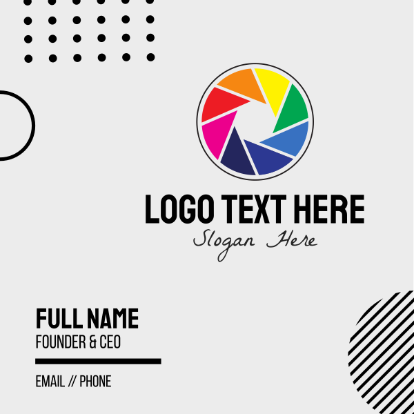 Colorful Camera Business Card