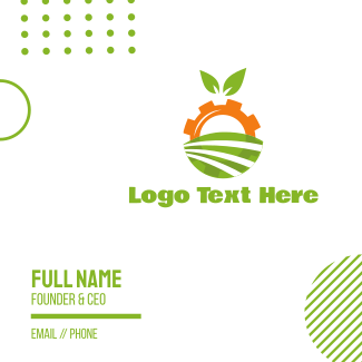 Agriculture Engine Business Card