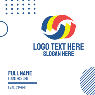 Tri Color Swoosh Business Card