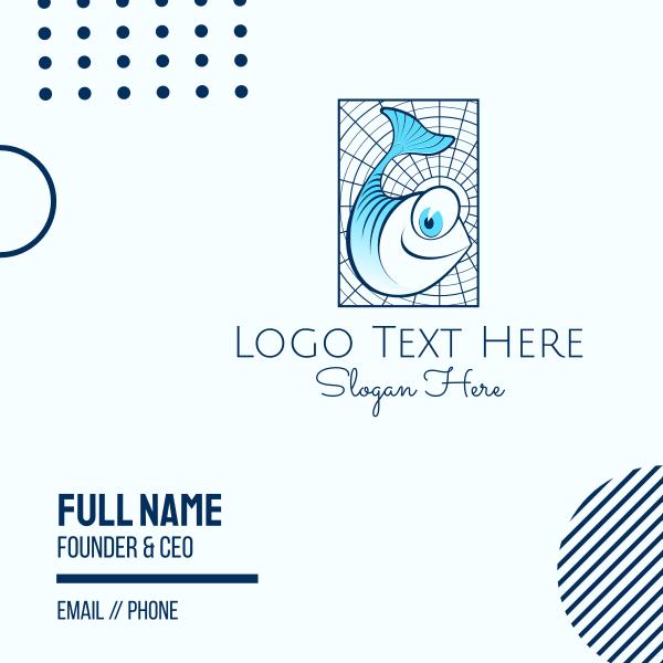 Blue Fish Cartoon Business Card