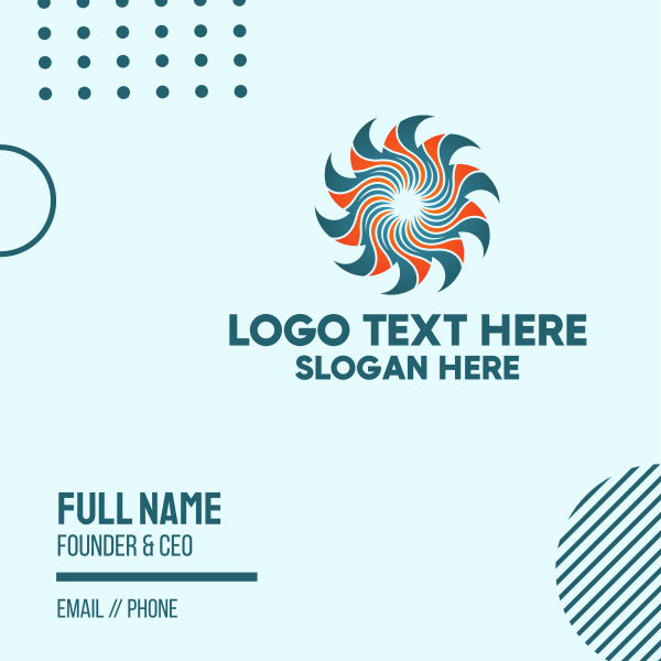 Professional Spiral Sun Business Card
