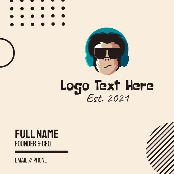 Gorilla DJ Headphones Business Card