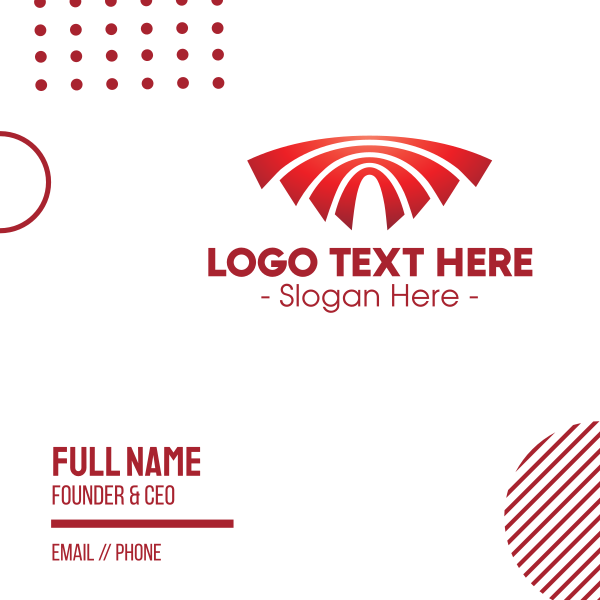 Red Arches Business Card