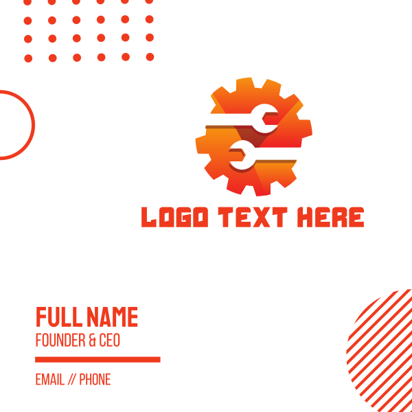 Gear Wrench Business Card