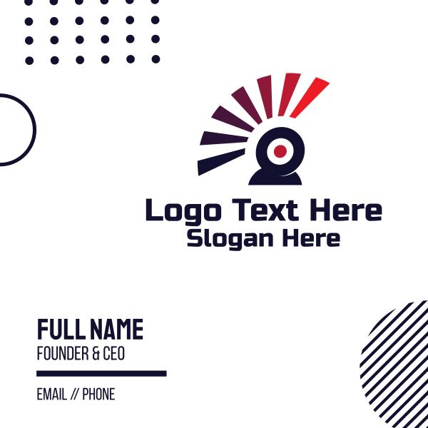 Web Cam Flash Business Card