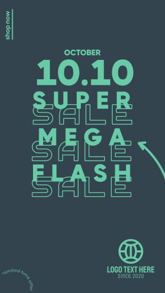 Flash Sale 10.10 Facebook story