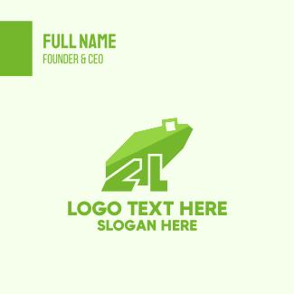 Green Frog Letter L Business Card
