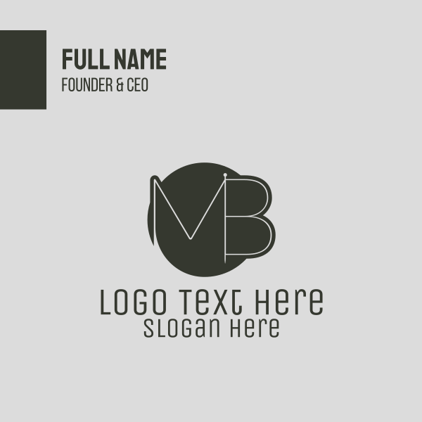 M & B Needle Business Card