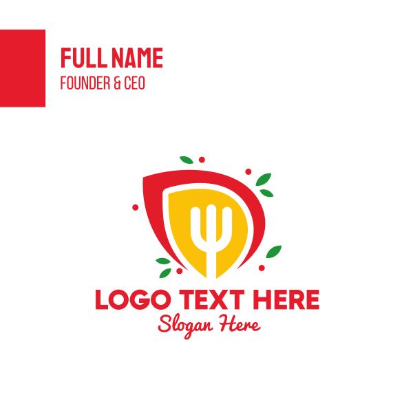 Restaurant Food Fork Business Card