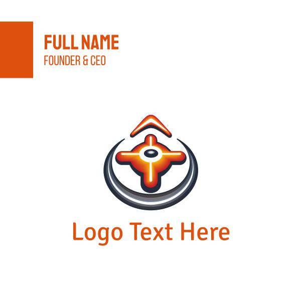 Orange Compass Business Card
