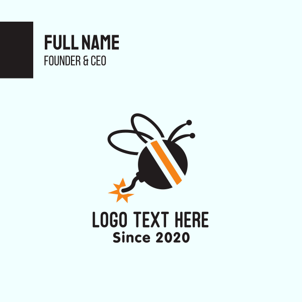 Bee Explosive Bomb Business Card