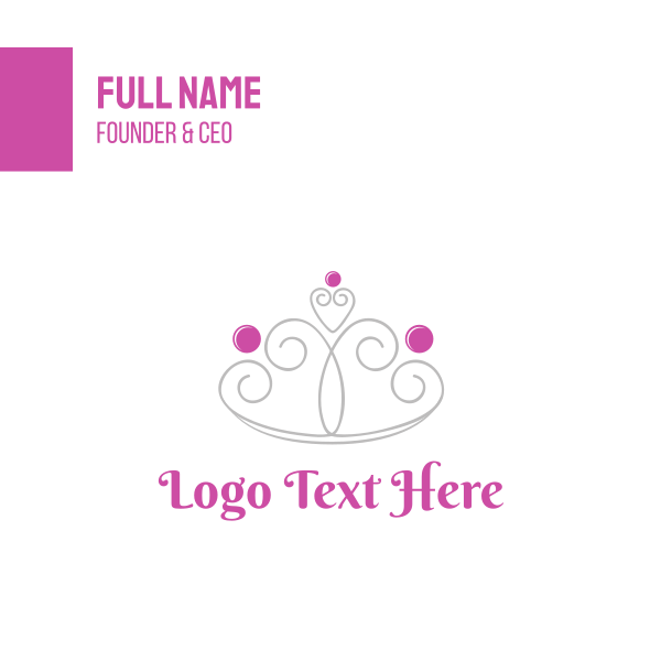 Cute Girly Crown Business Card