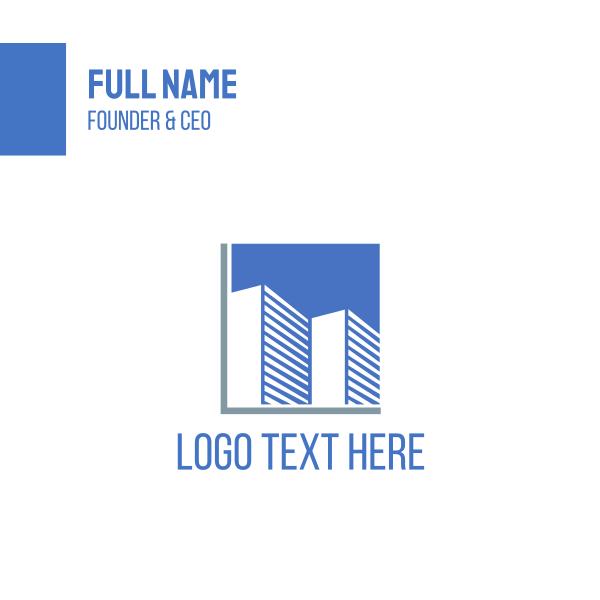 Blue Buildings Business Card
