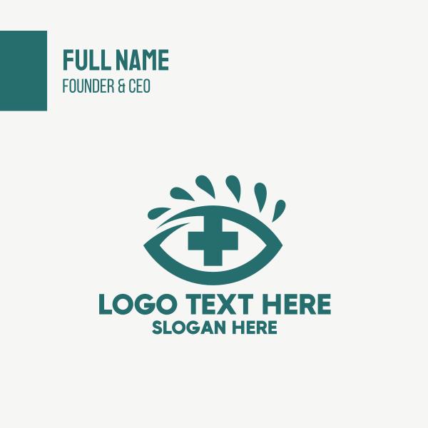 Red Eye Cross Optometrist Business Card