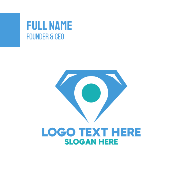 Blue Diamond Location Pin Business Card