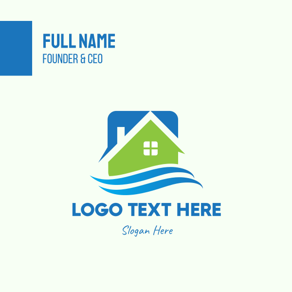 Seaside Real Estate House Business Card