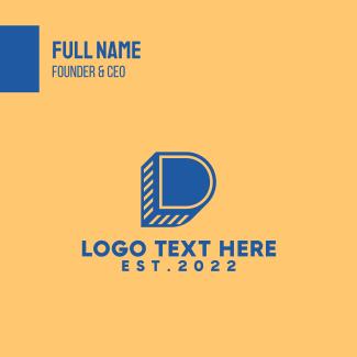 Modern Letter D Business Card