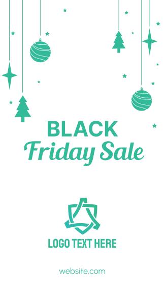 Black Friday Christmas Facebook story