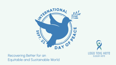 Day Of Peace Dove Badge Facebook event cover