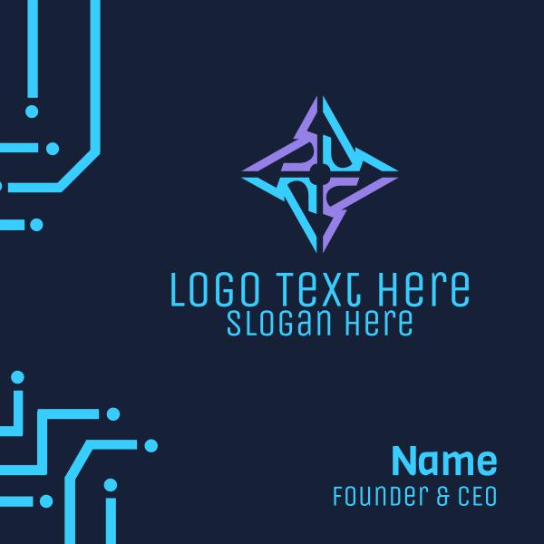 Tech Ninja Star Business Card