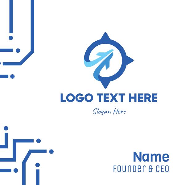 Blue Compass Business Card